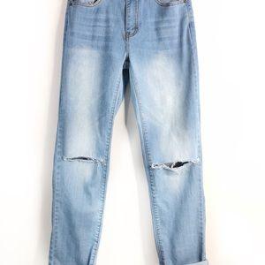 NEW Distressed boyfriend jeans, Womens Jeans